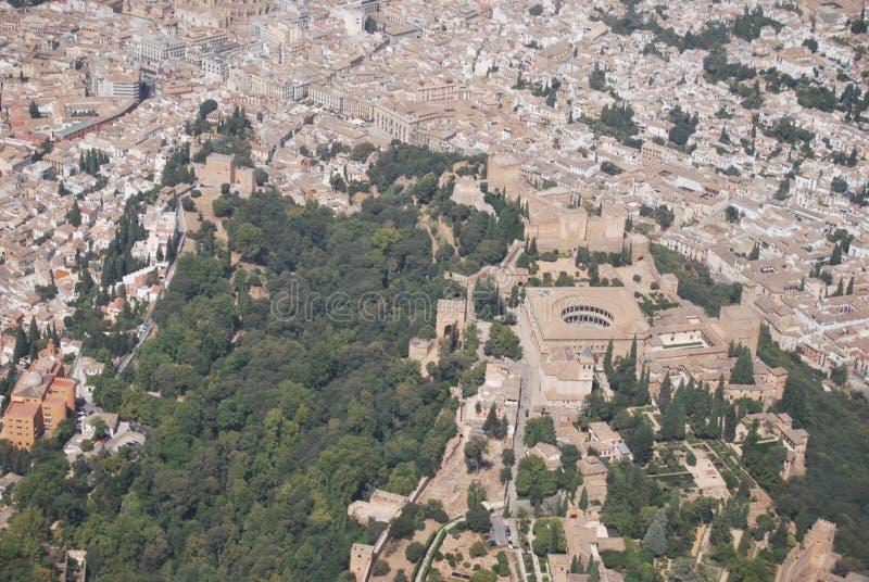 Granada od powietrza fotografia royalty free