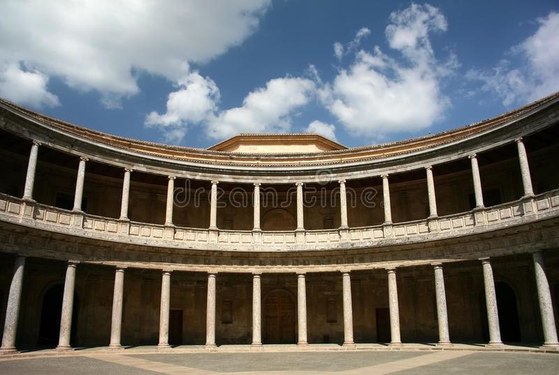 Granada, palazzo di Carlo V, Alhambra, Spagna fotografie stock libere da diritti
