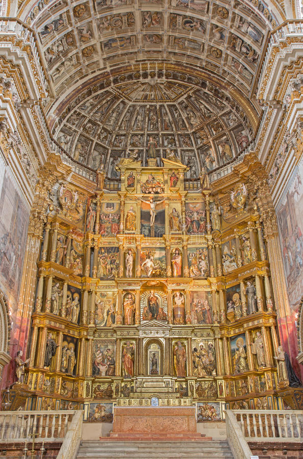 Free Granada - Presbytery And Mannerist Main Altar Of Church Monasterio De San Jeronimo By Pablo De Rojas From 16. Cent. Stock Images - 58869664