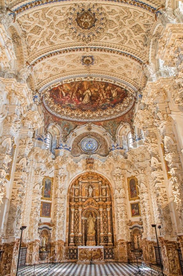 Granada - a sacristia barroco na igreja Monasterio de la Cartuja fotos de stock royalty free