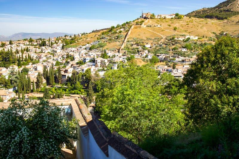 Granada sikt arkivbild