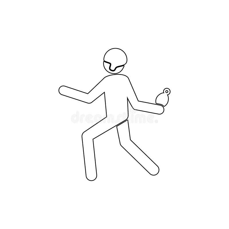 Granada, soldado, icono estallado del esquema Puede ser utilizado para la web, logotipo, app m?vil, UI, UX libre illustration