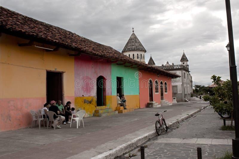 Granada street in Nicaragua royalty free stock photo