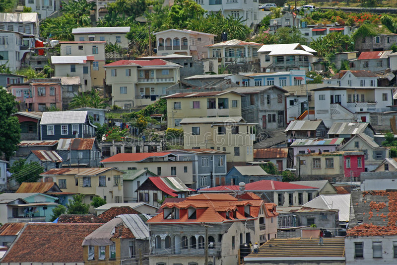 Grenada urban hillside stock photos