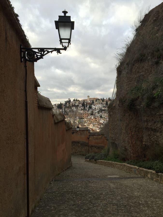 Granada w odległości zdjęcie stock