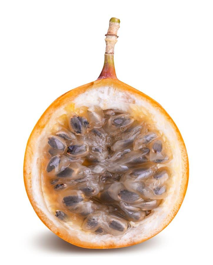 Granadilla φρούτα που απομονώνονται στο άσπρο υπόβαθρο στοκ φωτογραφίες