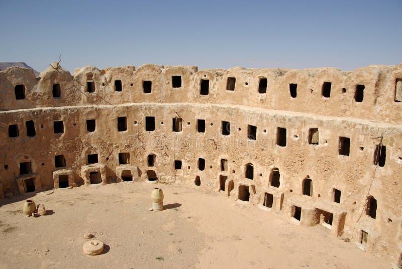 Granaio di Berber, Libia fotografie stock