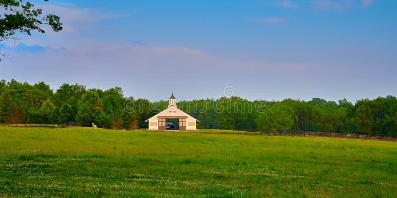 Granaio di cavallo del Kentucky immagini stock libere da diritti