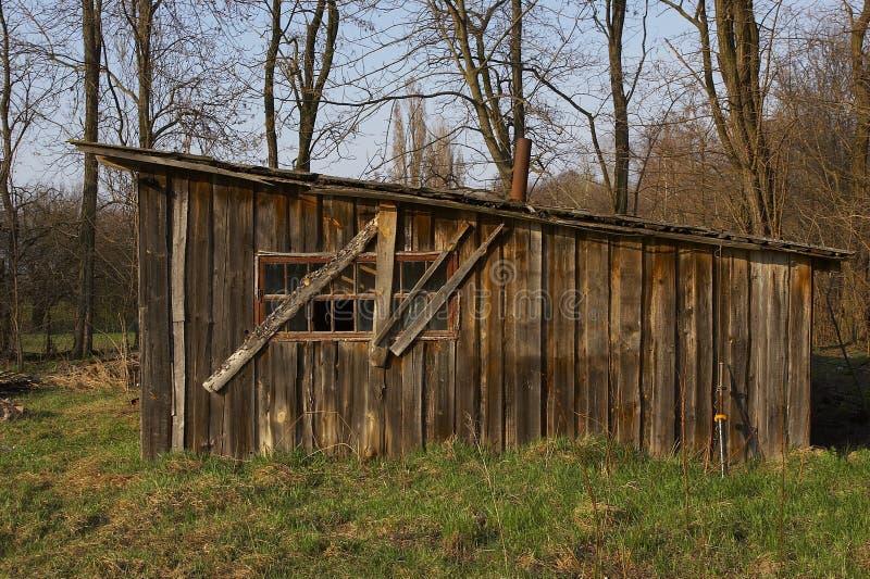 Granaio di legno fotografie stock