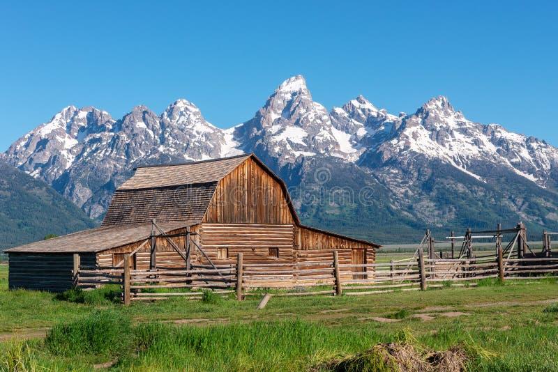 Granaio di Moulton nel grande parco nazionale di Teton, Wyoming immagine stock libera da diritti