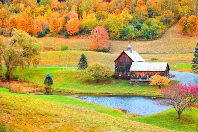 Granaio nel Vermont rurale fotografia stock