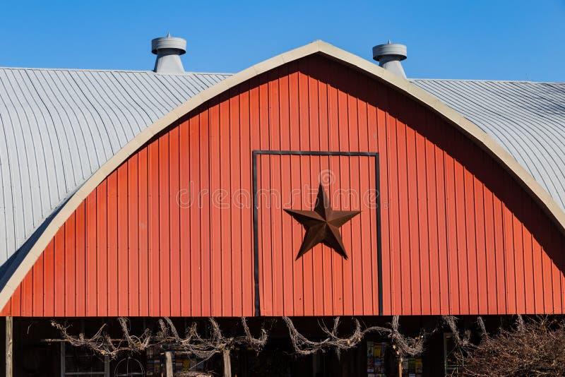 Granaio rosso della stella fotografia stock libera da diritti