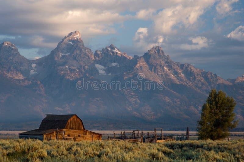 Granaio storico nella grande sosta nazionale di Teton immagini stock libere da diritti