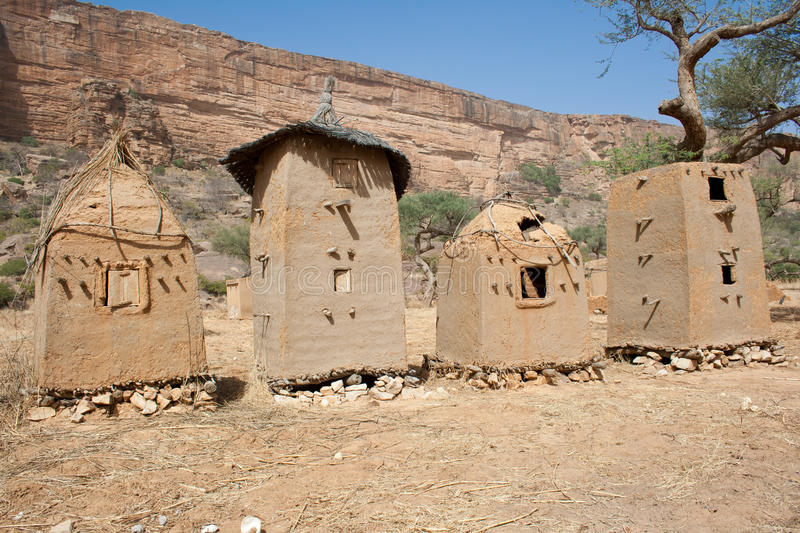 Download Granaries In A Dogon Village, Mali (Africa). Stock Photo - Image: 21233144
