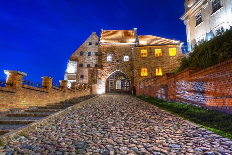 Granaries with water gate in Grudziadz royalty free stock photos