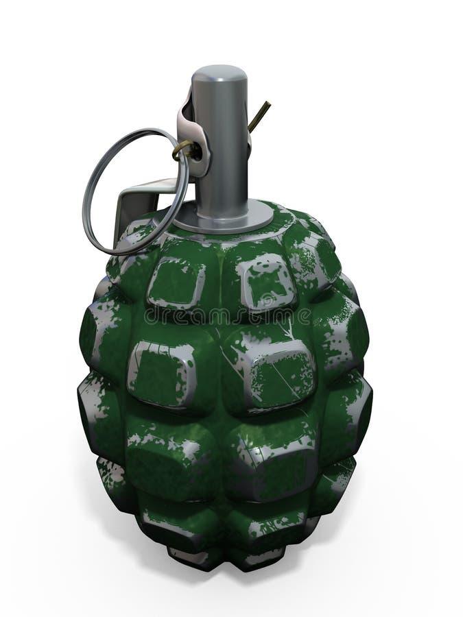 granat 3d royaltyfri bild