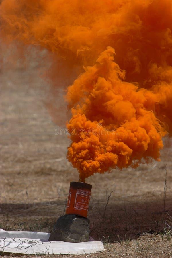 granat dymu fotografia stock