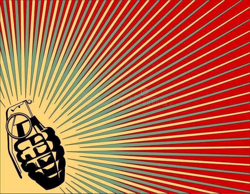 granat eksploduje tło ilustracja wektor