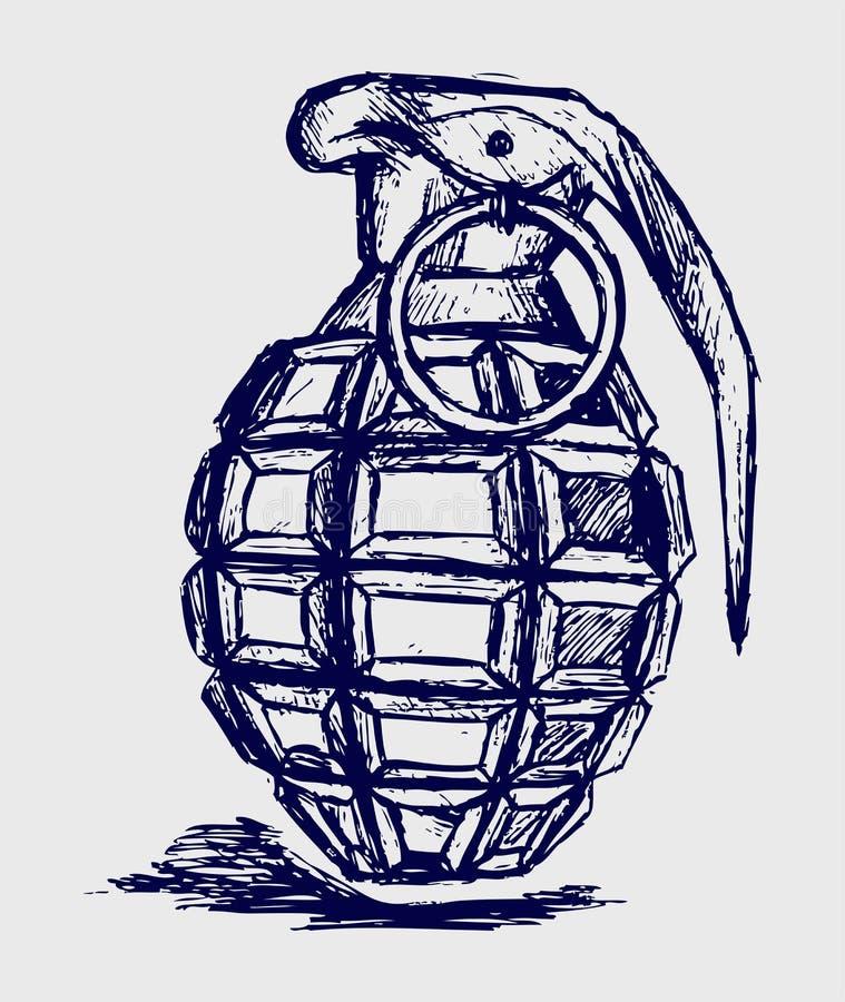 Granat ręczny ilustracja wektor