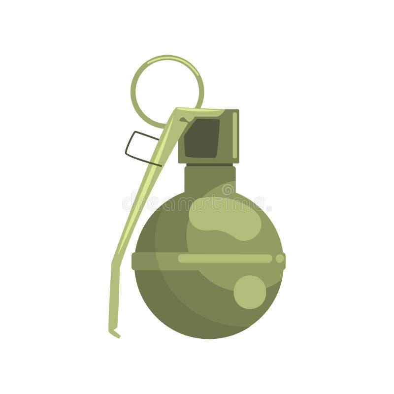 Granat ręczny Militarnej broni kolorowa wektorowa ilustracja royalty ilustracja