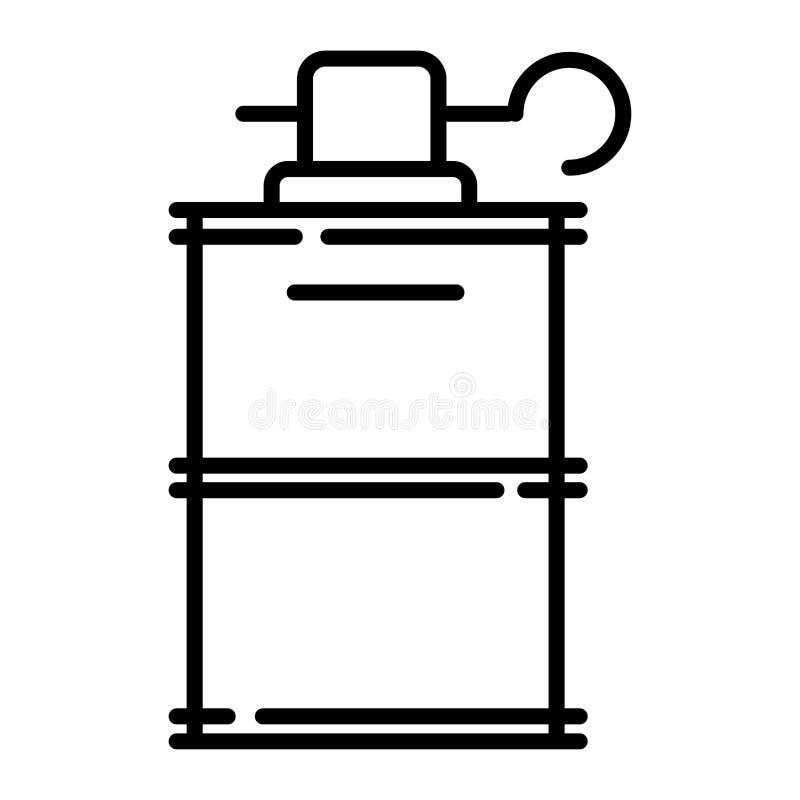 Granat ręki ikona royalty ilustracja