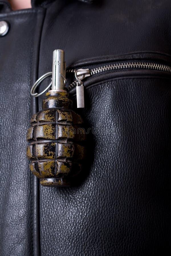 granat ręki kurtki kieszeń s zdjęcia royalty free