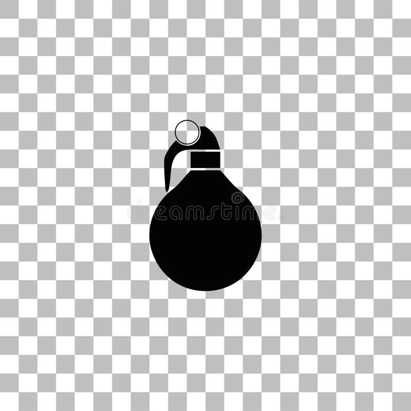 Granat r?czny ikony mieszkanie ilustracja wektor