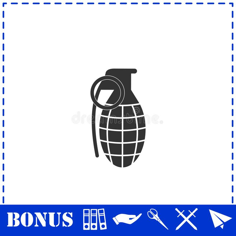 Granat r?czny ikony mieszkanie royalty ilustracja