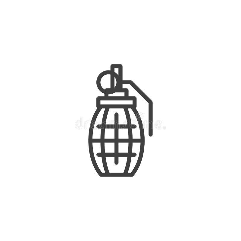 Granat R?czny kreskowa ikona ilustracji