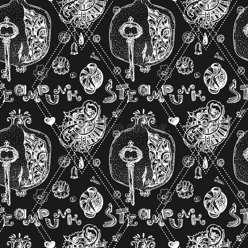 Granat steampunk Art vektor abbildung