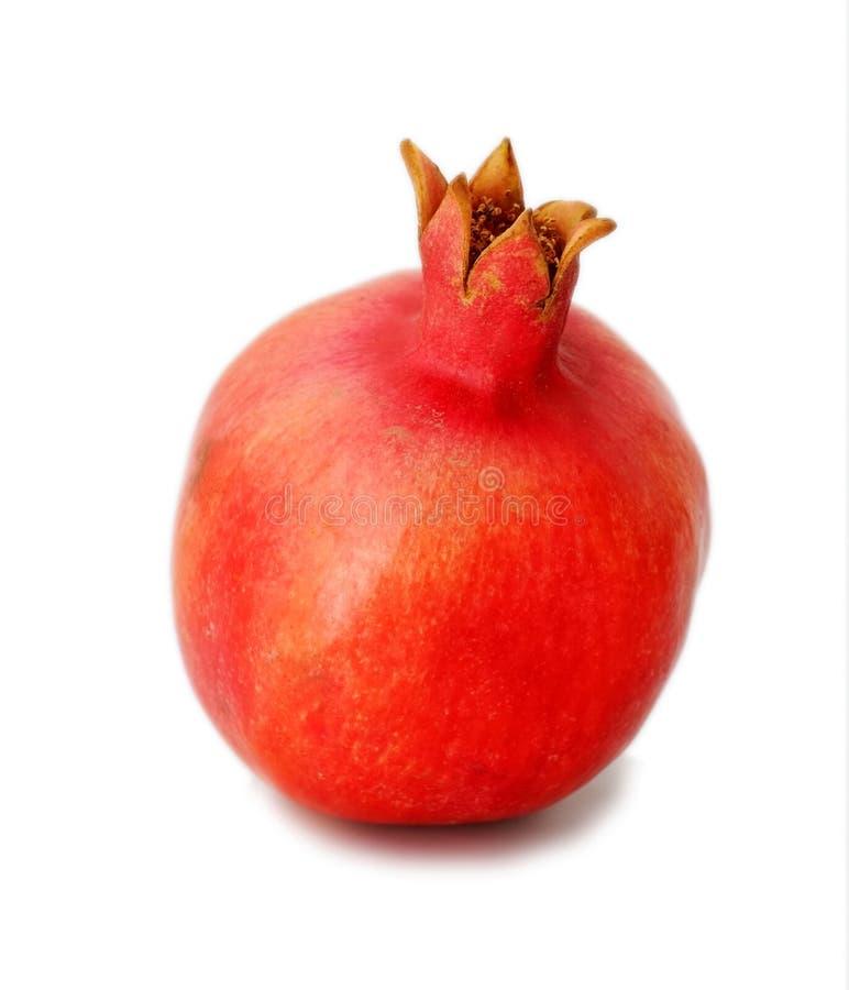 Granatapfel auf weißem Hintergrund stockfotografie