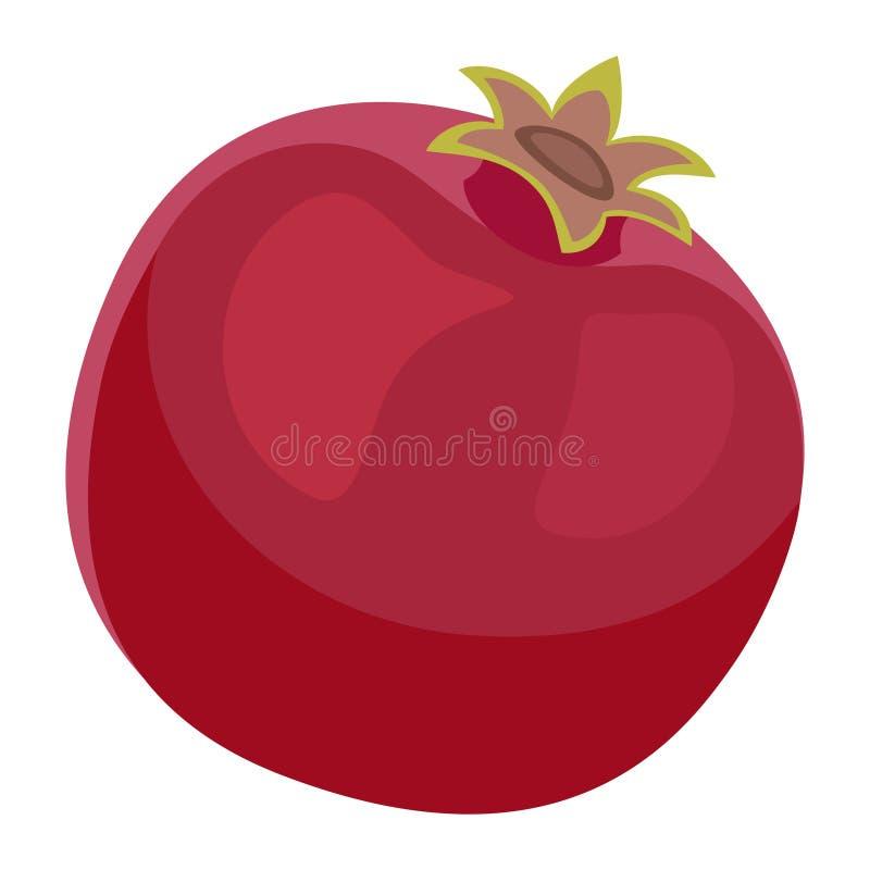 Granatapfel-Frucht-Design-saftige neue Ikonen-Schablone vektor abbildung