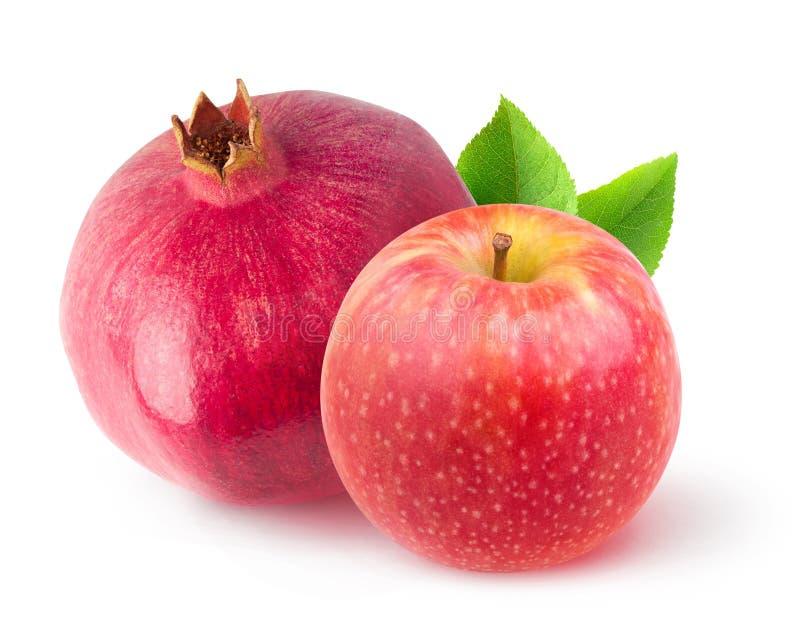 Granatapfel und Apfel stockbild