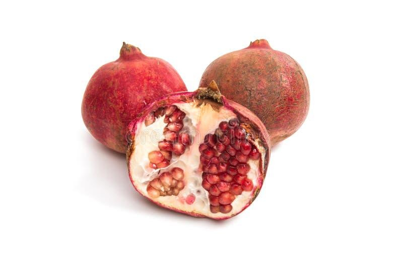 Granatapfelfrucht getrennt stockfoto