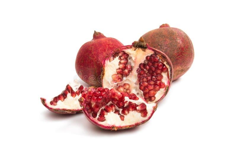 Granatapfelfrucht getrennt lizenzfreie stockbilder