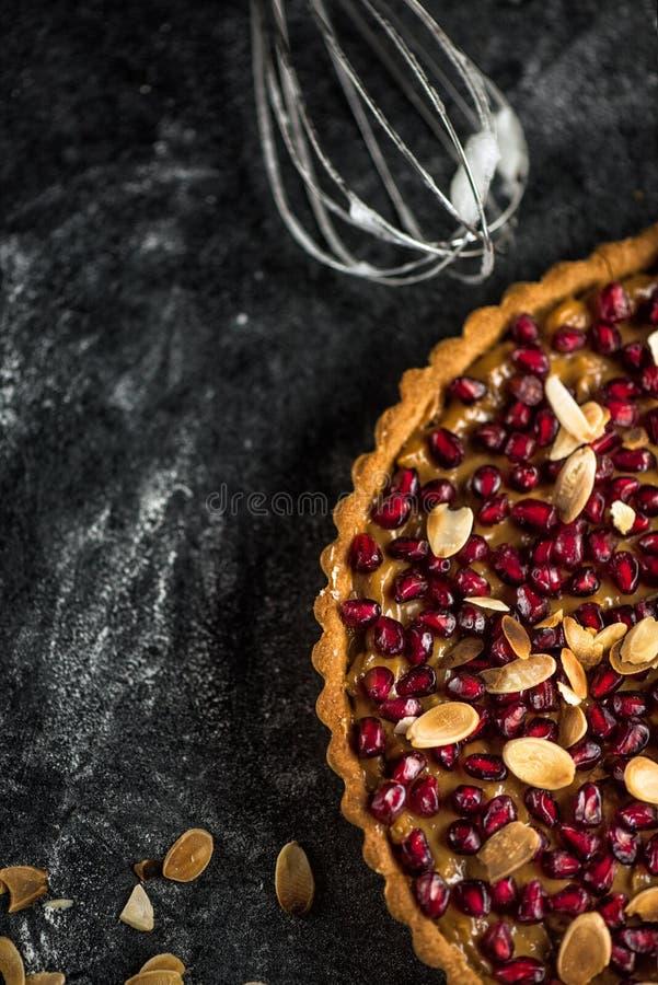 Granatapfeltörtchen lizenzfreies stockfoto