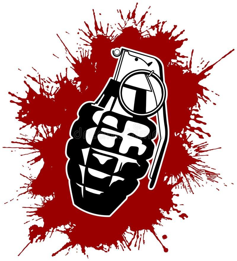 Granate mit splattered Blut lizenzfreie abbildung
