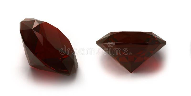 Granatedelsteine stockbild