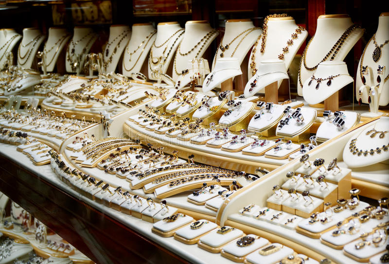 Granatsjuweliergeschäft lizenzfreie stockfotografie