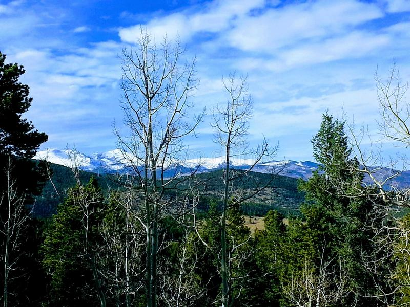 Granby Colo. Mountains, lake, forth, july royalty free stock photo