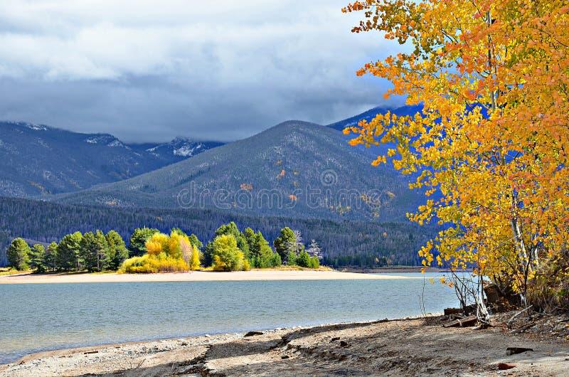Granbymeer in de Herfst, Colorado royalty-vrije stock foto's