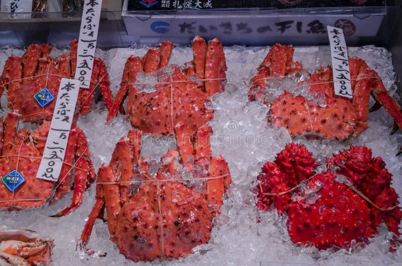 Granchi di Taraba nell'Hokkaido immagine stock