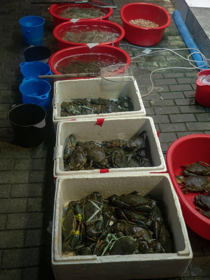 Granchi freschi in Hong Kong fotografie stock libere da diritti