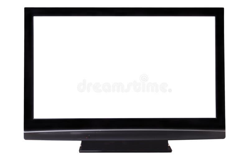 grand écran blanc de pasma d'isolement par TVHD de clippin photographie stock libre de droits