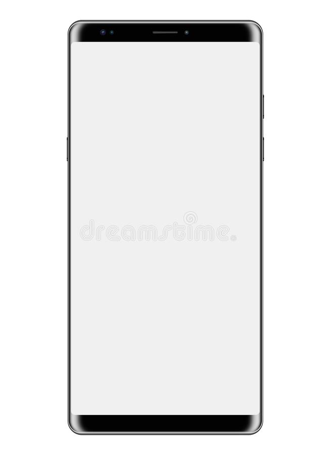 Grand écran Smartphone d'isolement sur le blanc illustration de vecteur