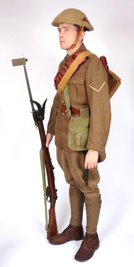 Grand équipement de soldat de guerre images libres de droits