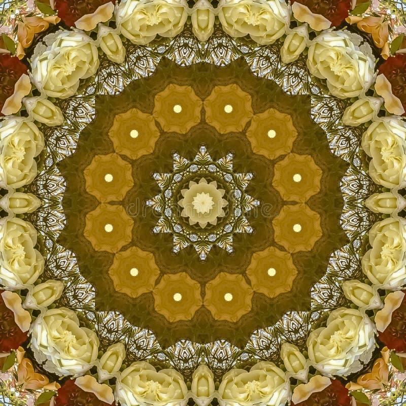 Grand affichage de place des fleurs dans la disposition circulaire au mariage en Californie sur le fond bleu photo stock