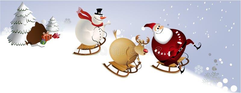 Grand amusement de Noël illustration libre de droits