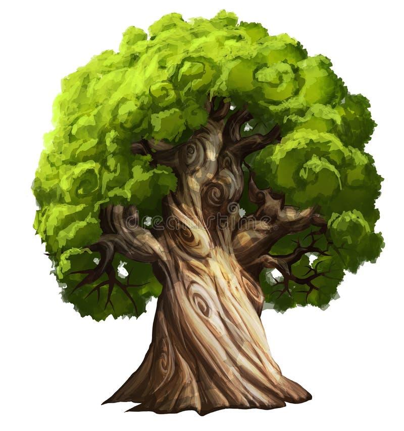 Grand arbre illustration libre de droits