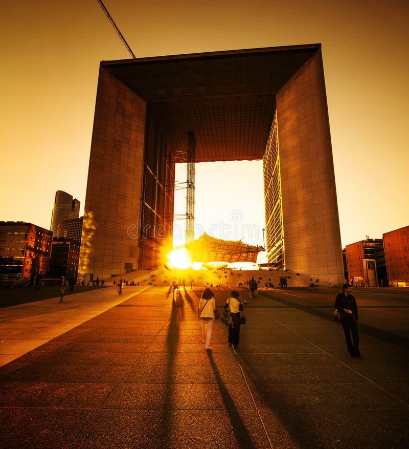 Grand Arch de la Defense photo stock